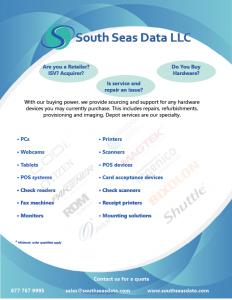 SSD Procurement Slick hardware devices